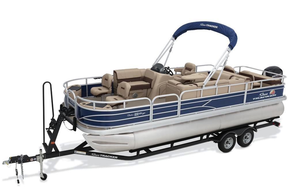 2018 Sun Tracker Fishin' Barge 22 DLX in Holiday, Florida