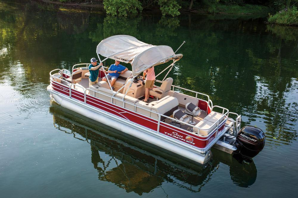 2019 Sun Tracker Fishin' Barge 24 DLX in Gaylord, Michigan - Photo 7