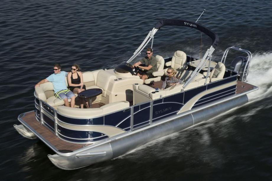 2017 sylvan mirage fish 8522 party fish le power boats for Party fishing boats