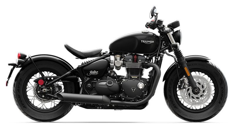 2019 Triumph Bonneville Bobber Black in Belle Plaine, Minnesota - Photo 1