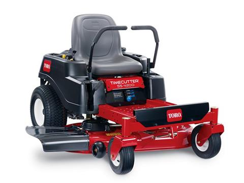 2019 Toro 42 in. Zero Turn TimeCutter SS4200 (California Model) in Greenville, North Carolina